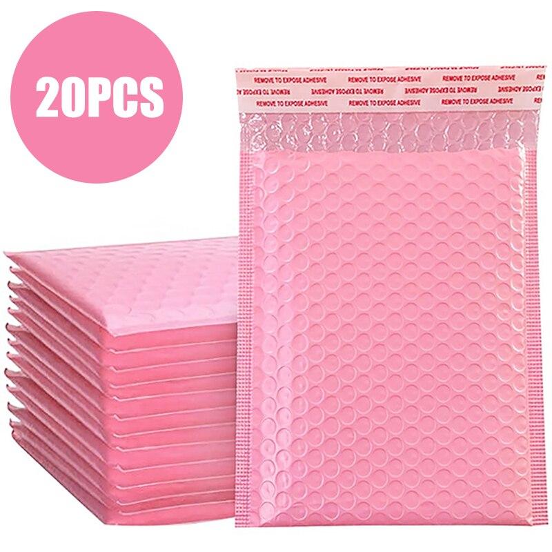 Упаковка с подкладкой, 20 шт., розовая Фотосумка для женской офисной сумки, для самостоятельной упаковки, Подарочный магазин