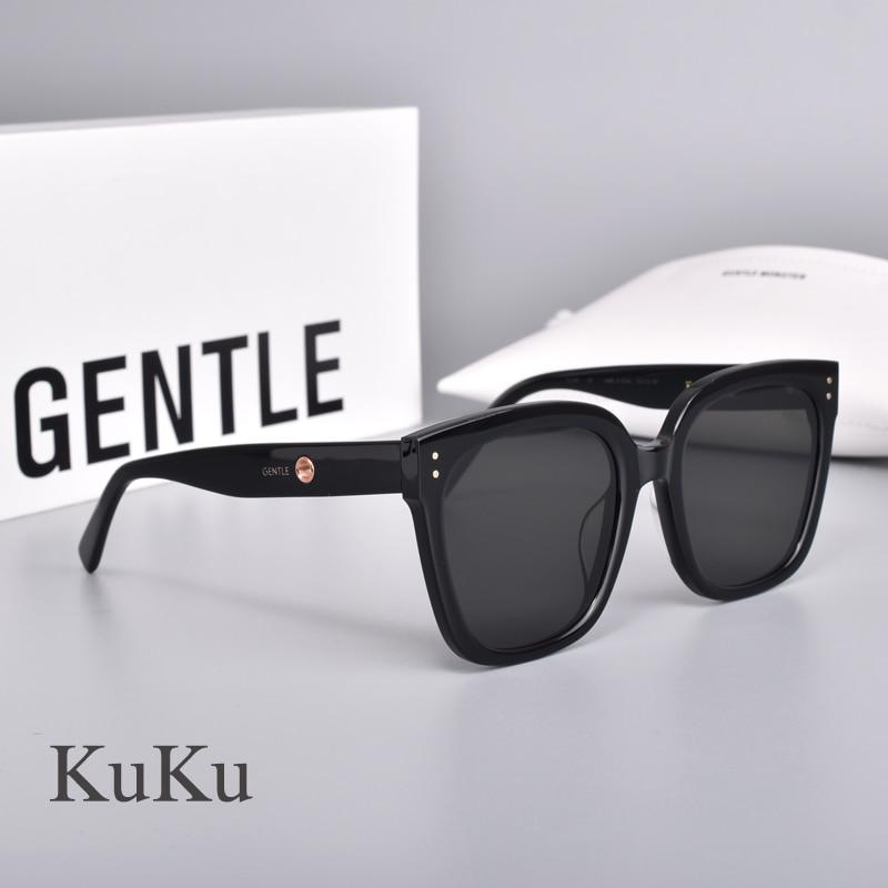 2020 Gentle Co-operation Jennie women Sunglasses  Anti blue light Acetate Polarized UV400  KuKu square GM Sunglasses  women men