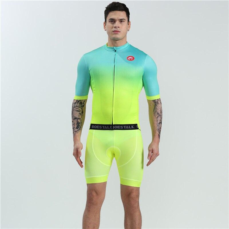 Bostalk equipo de bicicletas ropa de carreras de bicicleta de montaña de carretera traje de carreras gel cojín de secado rápido transpirable de verano de manga corta
