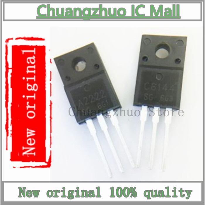 10 unids/lote = 5 pares 2SA2222 2SC6144 5PCS A2222 + 5PCS C6144 IC Chip original nuevo