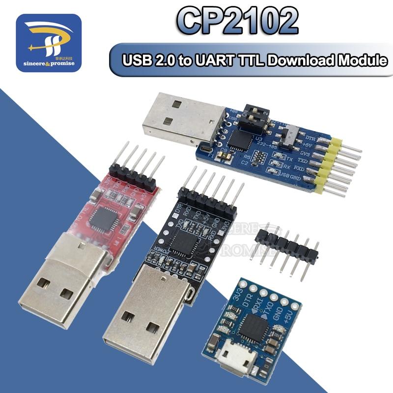 5PIN CP2102 USB 2,0 zu TTL 485 232 UART Modul 6Pin Serial Converter STC Ersetzen FT232 Adapter Modul 3,3 V/5V Power Für Arduino