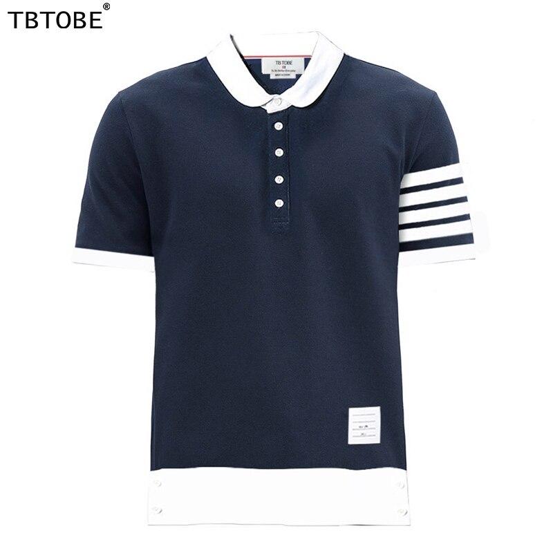 TB TOBE قمصان بولو للرجال ماركة تصميم stright بلايز عادية نمط مع المرقعة نموذج قمصان للرجل زائد 3xl حجم الترفيه بولو