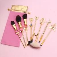 new 8 piece makeup brush set sailor moon unicorn wet and wild anime goods high gloss eyeshadow smudge makeup brush set gift