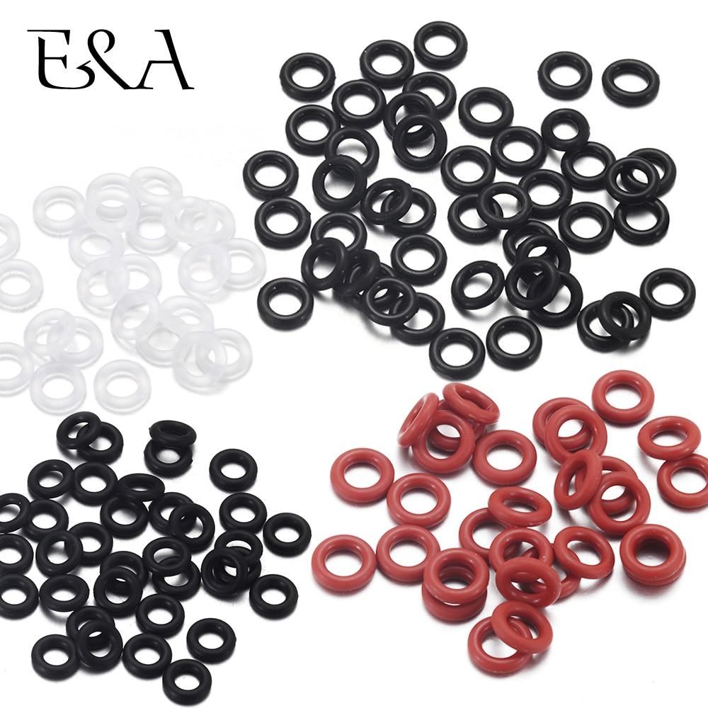 50 шт. эластичное резиновое уплотнительное кольцо, позиционирование, бусины, амулеты для кожаного браслета, изготовление силиконового ассортимента, уплотнительное кольцо