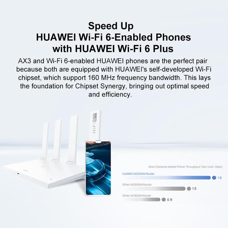 Original Chinese Version HUAWEI WiFi 6+ AX3 Pro Dual Core Wireless Router 3000M 5GHz Repeater Amplifier WiFi6 Mesh WiFi enlarge