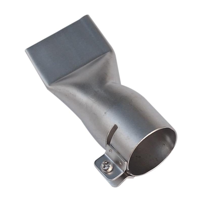Boquilla Tubular de boca ancha y plana de 40mm para pistola de soldar de plástico, calor por aire caliente, Boca de soldador de plástico