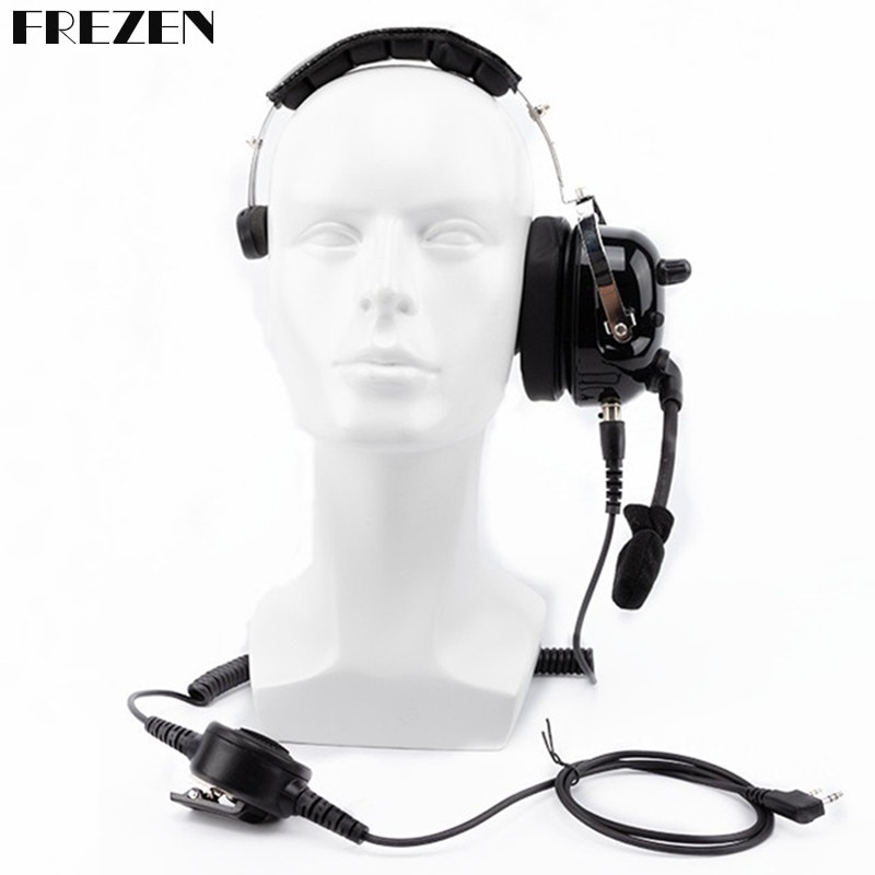 General Aviation Headphone Noise Reduction Unilateral Headset CS Tactical Headset for Kenwood Baofeng Two way radio film Media