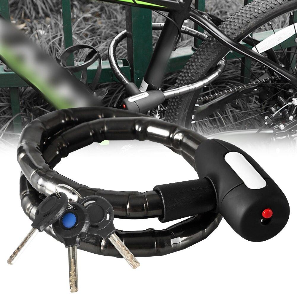 Велосипедный замок Противоугонная стальная кабельная Блокировка 85 см водонепроницаемый мотоцикл горный велосипед замок безопасности с по...