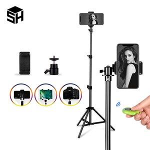 1/4 винтовая Головка Универсальный портативный алюминиевый штатив для селфи для телефона с креплением на подставке цифровая камера с дистан...