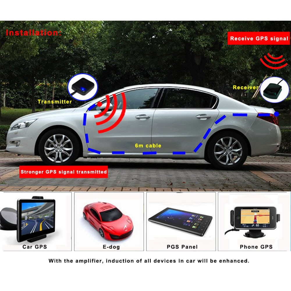 Antena GPS navegador amplificador 5M/16 pies coche repetidor de señal amplificador GPS recibir y transmitir para teléfono sistema de navegación de coche