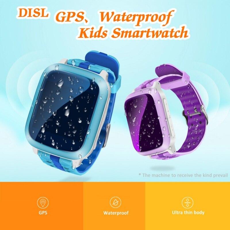 Reloj inteligente EDAL DS18 para niños, Monitor de teléfono seguro, GPS + WiFi + localizador de llamada de emergencia, reloj Antipérdida de compatible con tarjeta SIM para niños