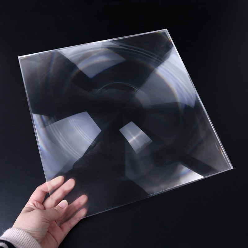 Lente de Concentração Lentes de Lupa Ferramentas de Fogo Quadrado Pmma Fresnel Lente Fazer Experimento Científico 300x300mm