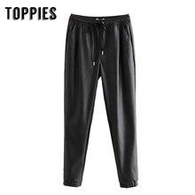 Black Pu Leather Pencil Pants Plus Size Trousers Women 2020 Spring Autumn Pants pantalones mujer