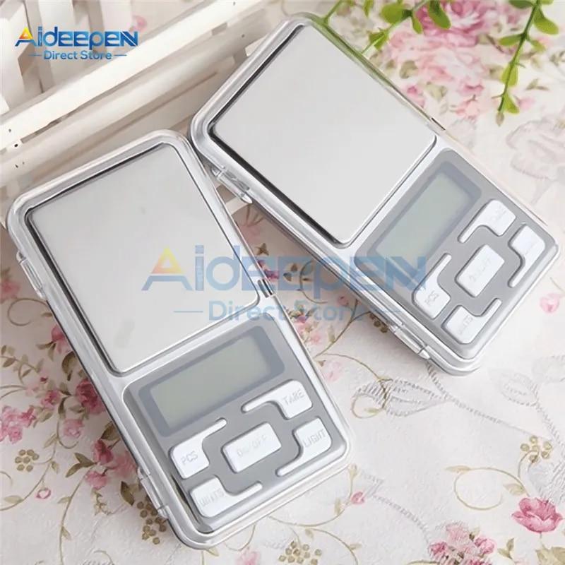 Mini balance électronique numérique Portable LCD de poche, 100/200/300/500g 0.01/0.1g, haute précision pour la cuisine, pour le poids des bijoux