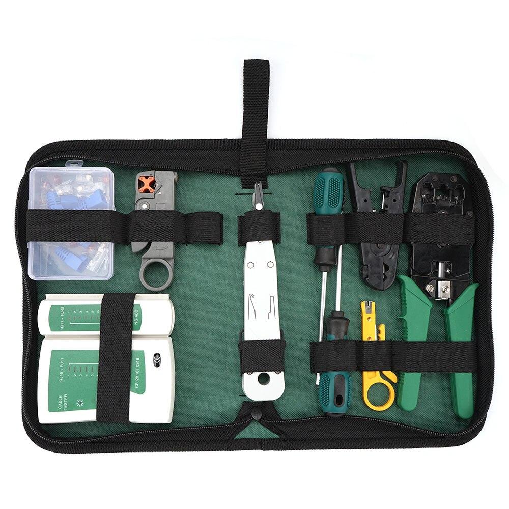 12 in 1 Ethernet Cat5 Cat6 Repair tool set Cable Tester RJ45 RJ11 RJ12 lan Hand Tool Set Crimping networking tool kit enlarge