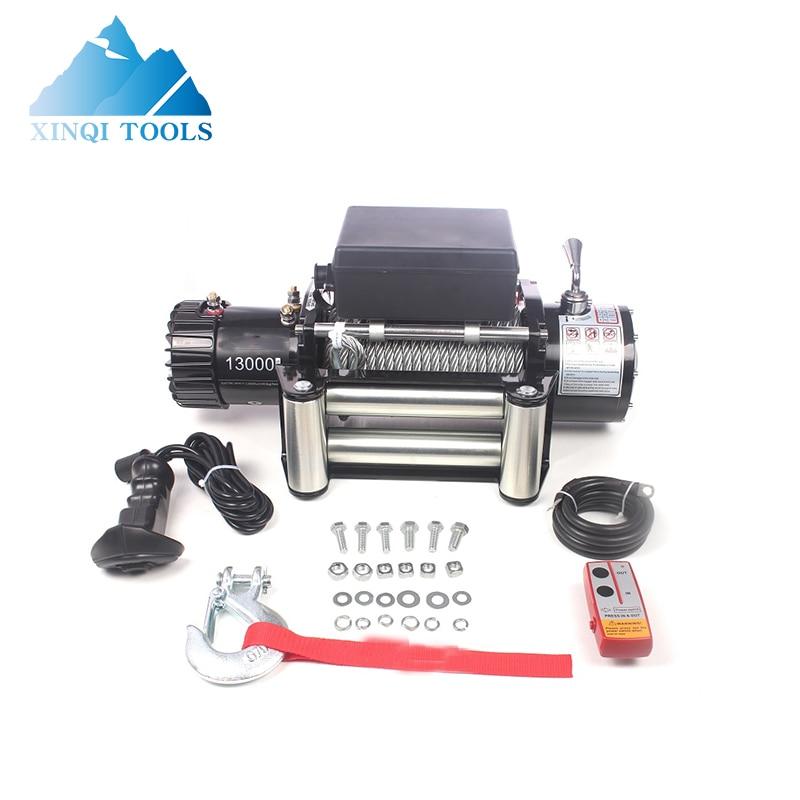 Высококачественная лебедка XINQI 13000 фунтов 12 В постоянного тока, мотор для лебедки, автомобильная кабельная лебедка