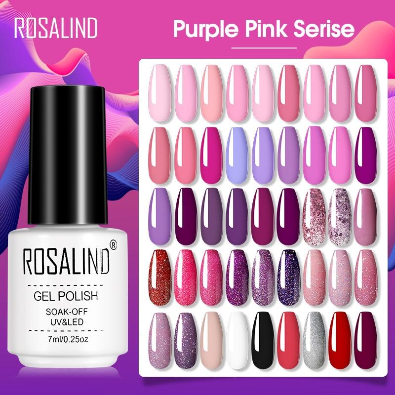 ROSALIND Gel Polish Macaron Gel Varnishes All For Manicure Soak Off UV Lamp Nails Art Semi Permanent