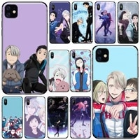 anime yuri on ice yuri sport phone case for iphone 11 12 pro xs max 8 7 6 6s plus x 5s se 2020 xr soft silicone cover funda