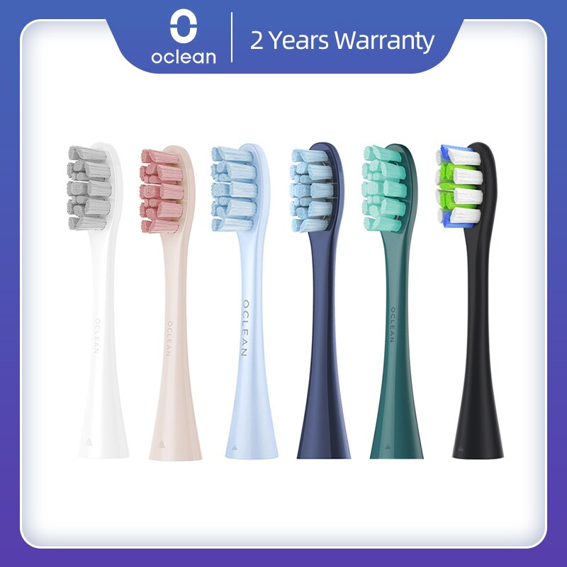 Original 2/4PCS Oclean X / X Pro/ Z1/Air2/F1 Replacement Brush Heads for Oclean Sonic Toothbrush Deep Cleaning Tooth Brush Heads oclean p3 replacement brush heads for z1 x se air one toothbrush 2pcs