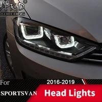 head lamp for car vw golf 7 sportsvan 2016 2019 golf7 headlights fog lights day running light drl h7 led bi xenon bulb accessory