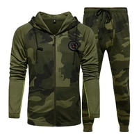men sets camouflage casual tracksuit outdoor new camo jacket pants sets mens sportswear hooded sweatsuit