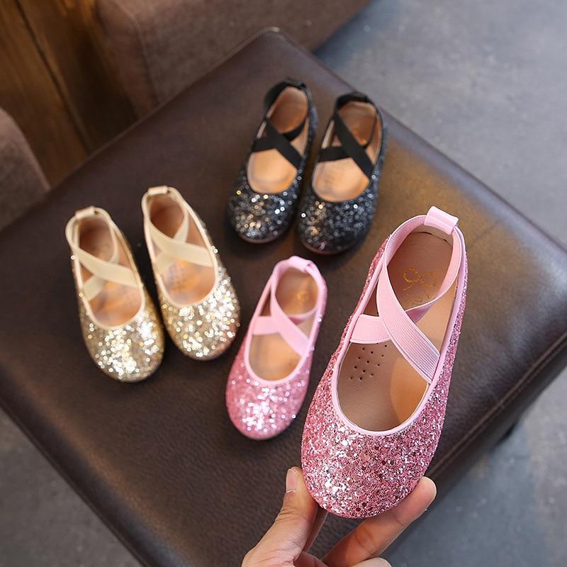 2021 демисезонные кожаные туфли для девочек в Корейском стиле туфли для маленьких принцесс студенческие танцевальные туфли стильные туфли в ...