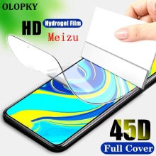 3D Silicone TPU Case Cover For MEIZU 16X 16XS Screen Protector Explosion-proof Hydrogel Film FOR MEI