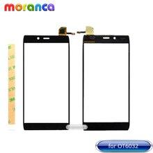 Pantalla de 4,7 pulgadas para Alcatel One Touch idol alpha 6032 6032A 6032X OT6032 Digitalizador de pantalla táctil Panel Sensor de vidrio negro + cinta 3M