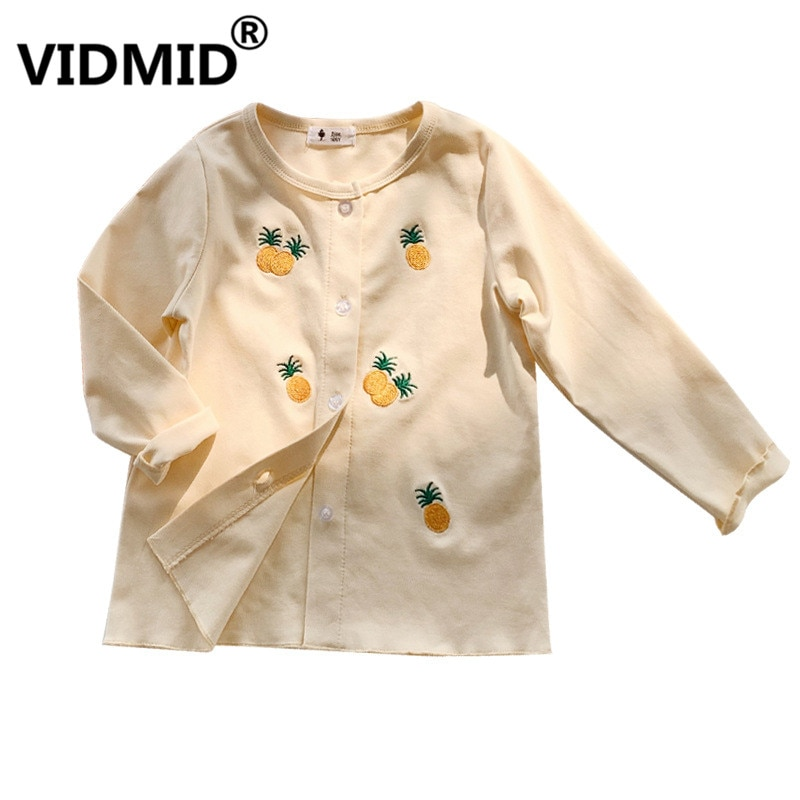 VIDMID Kinder Mädchen Lange-Sleeve Mantel Mädchen Strickjacke sommer Oberbekleidung Tops Mädchen Langen Mantel baumwolle kleidung kinder cartoon tops 4006 19