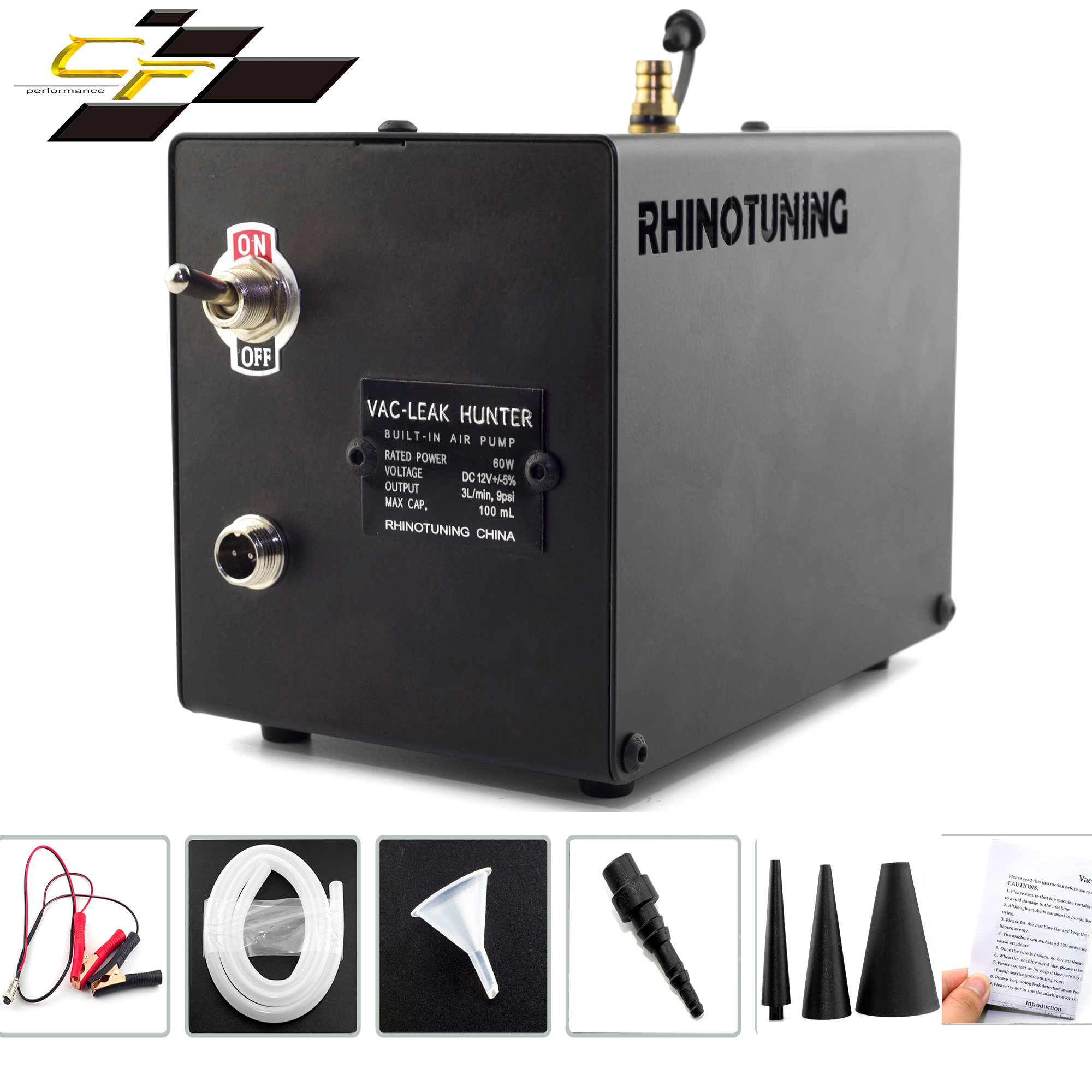 Nwe Smoke Machine Vac-LeakHunter LeaksTesting Tool And 4 Universal External Connection Interfaces For All Vehicles Vacuum Diag