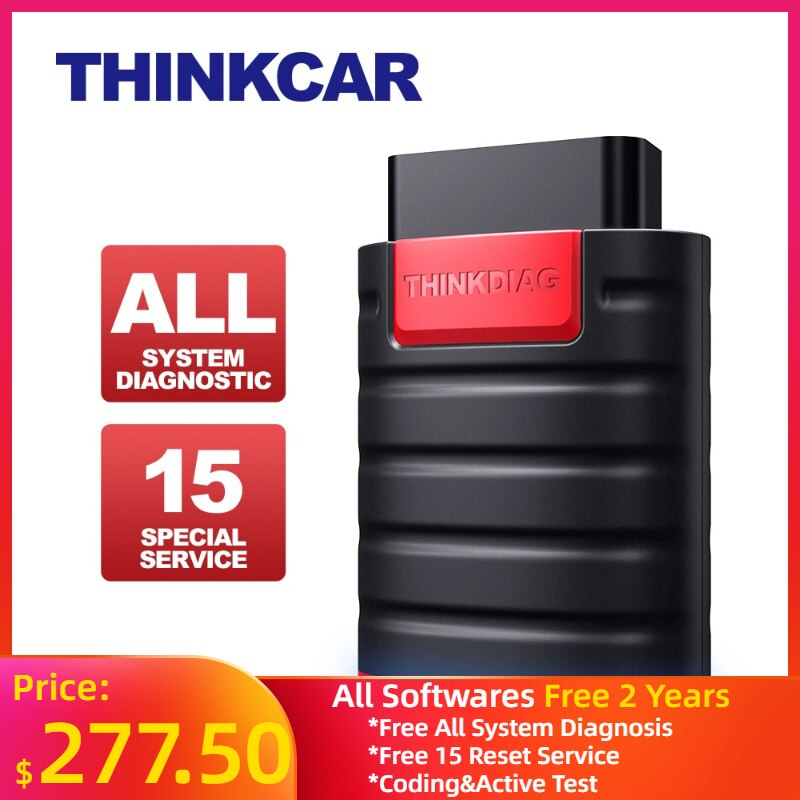 ThinkDiag All Free Softwares Car Code Reader Scanner All System Diagnostic Tool 15 Reset Services OBD2 Full Functions