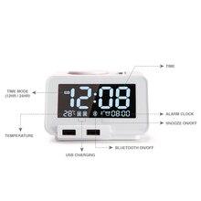 Домашний динамик, настольный с USB светодиодный, цифровые настольные часы, Bluetooth динамик, температура, чтение, динамик s для спальни, отеля C1PRO