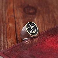 new retro viking pirate a nchor pattern ring mens ring fashion vintage metal ring accessories party jewelry