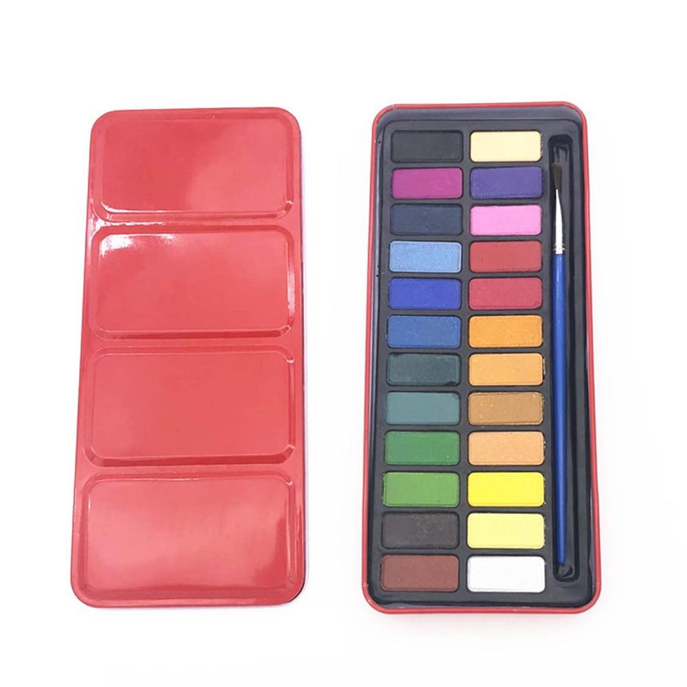 Zeichnung Aquarell Discs ungiftig Art Liefert Aquarell Palette Matte Farbe Box 18 Oder 24 Farben