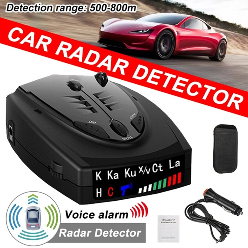 2021 Radar Car Radar Detector English Russian anti radar detector Vehicle V7 Speed Alarm Systems & Security Radar Detectors