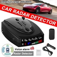 2021 Radar Car Radar Detector English Russian anti radar detector Vehicle V7 Speed Alarm Systems & S