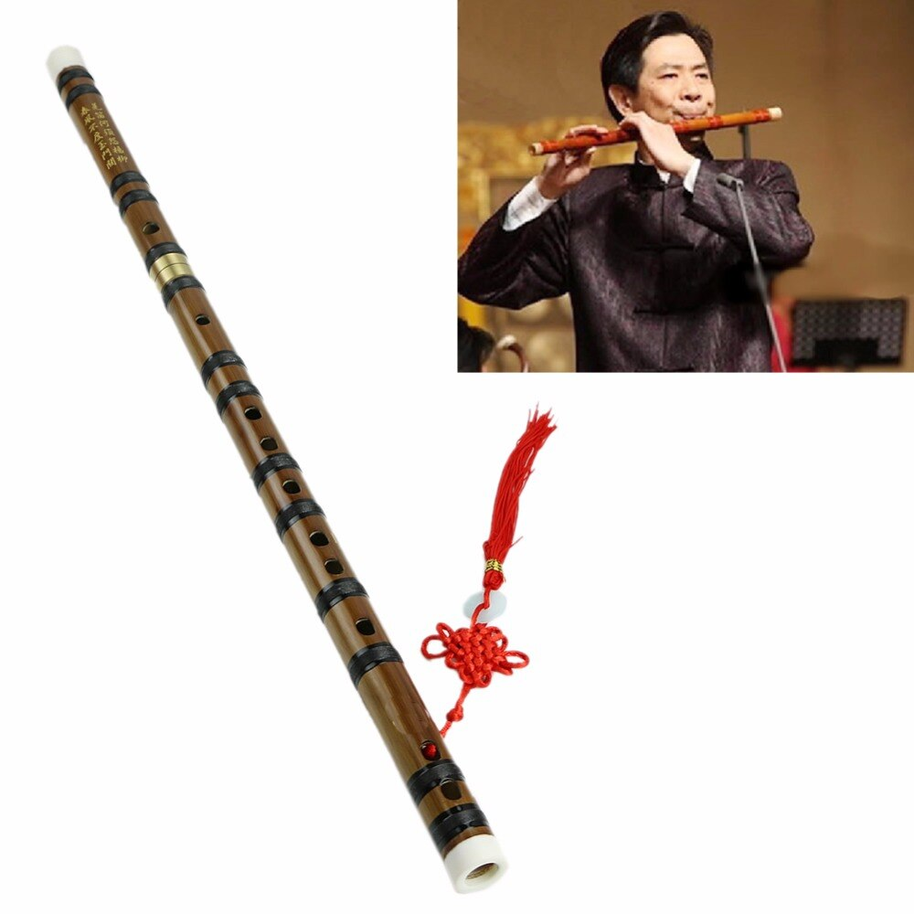 1PC Chinese Traditional Musical Instrument Handmade New Bamboo Flute in D Key musical instrument flute clarinet bamboo wooden chinese 6 holes student traditional color vertical 2020