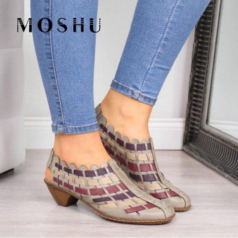 Sandalias de Gladiador, zapatos de plataforma de verano para mujer, Sandalias cruzadas de Pu, zapatos informales para mujer, Sandalia femenina