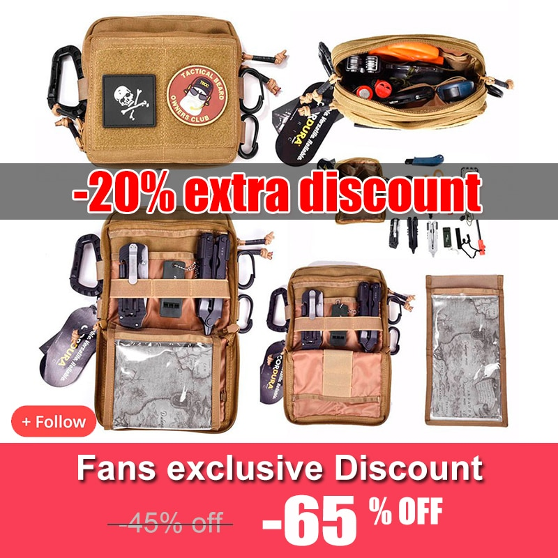 Military Tactical Gear Utility Map Admin Pouch Outdoor EDC Tool Molle Bag Organizer Waist Pack Hunting Accessories