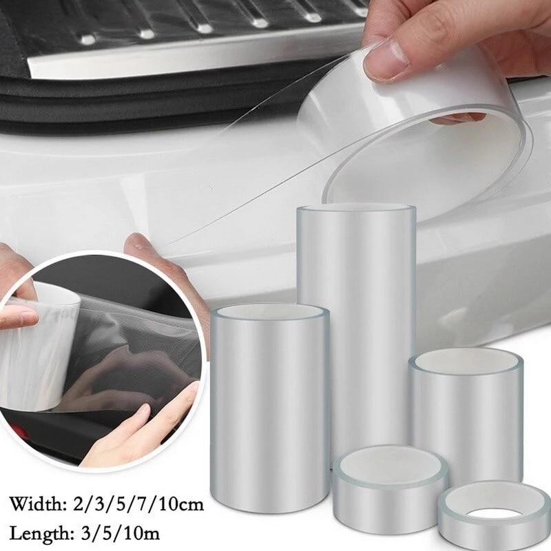 Car Scratches Protective Film Transparent Car Door Sill Protector Bumper Protector Car Wrap Film Car Wrap Film Self-Adhesive New
