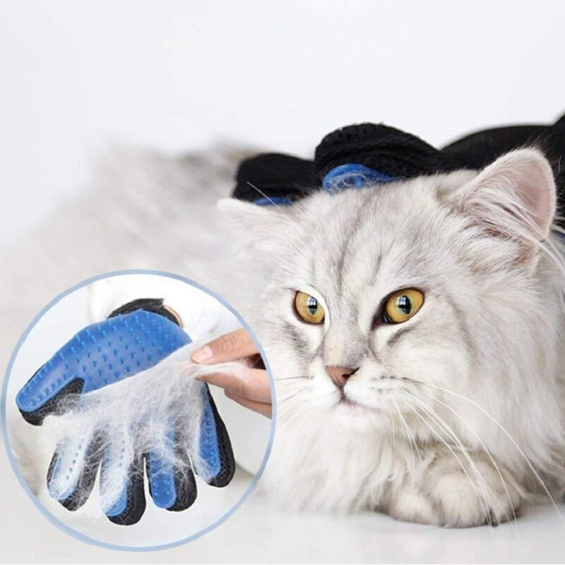 Guante para acicalamiento de gatos, guante de lana para mascotas, cepillo para pelo de gato, cepillo de masaje para limpieza de perros, cepillo para quitar el pelo de gatos y perros