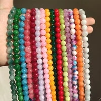 natural stone variety of jades beads round loose spacer beads for jewelry making 4681012mm diy handmade bracelets wholesale