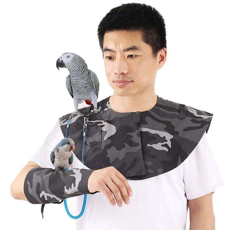 Xale para Pequenos Papagaio Anti-risco Ombro Protetor Pendurar Pássaro Tornozeleira Brinquedos Multi-funcional Pet Fralda Periquitos Médios 4 Pçs