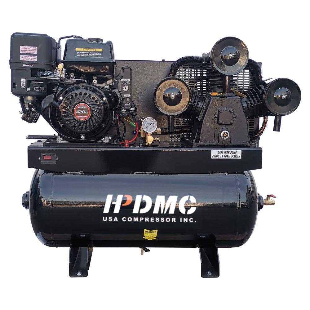 خدمة الولايات المتحدة-الغاز مدفوعة مكبس ضاغط الهواء 13HP مرحلة واحدة 30 غال خزان 43.5cfm @ ماكس 125psi 420CC محرك شاحنة فورد F-150