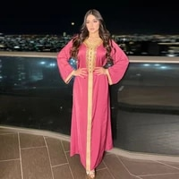 ramadan eid moubarak pink abaya dubai turkey islam muslim robe longue satin long hijab dress abayas for women djellaba femme