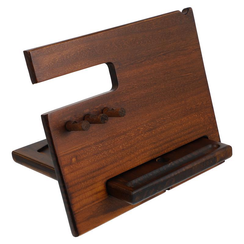 1 مجموعة متعددة الوظائف الخشب حامل هاتف ساعة سطح المكتب نظارات مفتاح تخزين الرف
