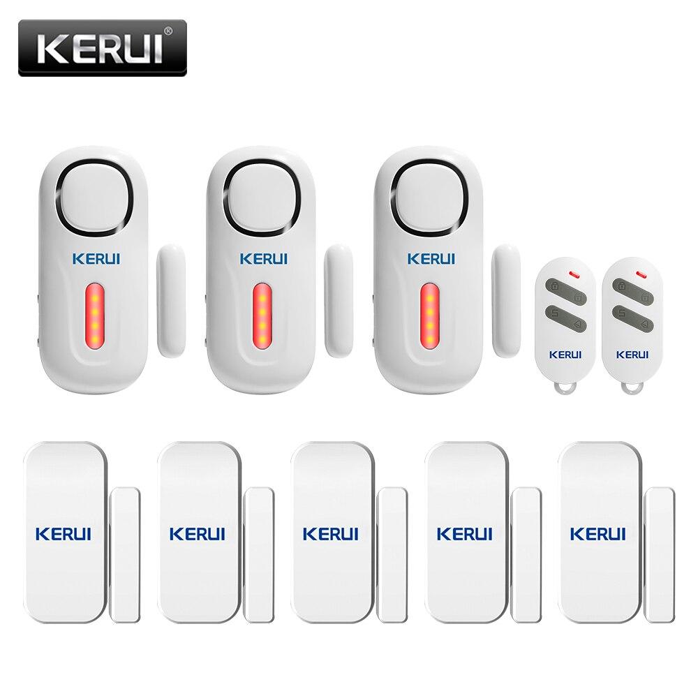KERUI Домашняя безопасность беспроводной дверной оконный вход с пультом дистанционного управления Комплект охранный датчик сигнализация PIR ...