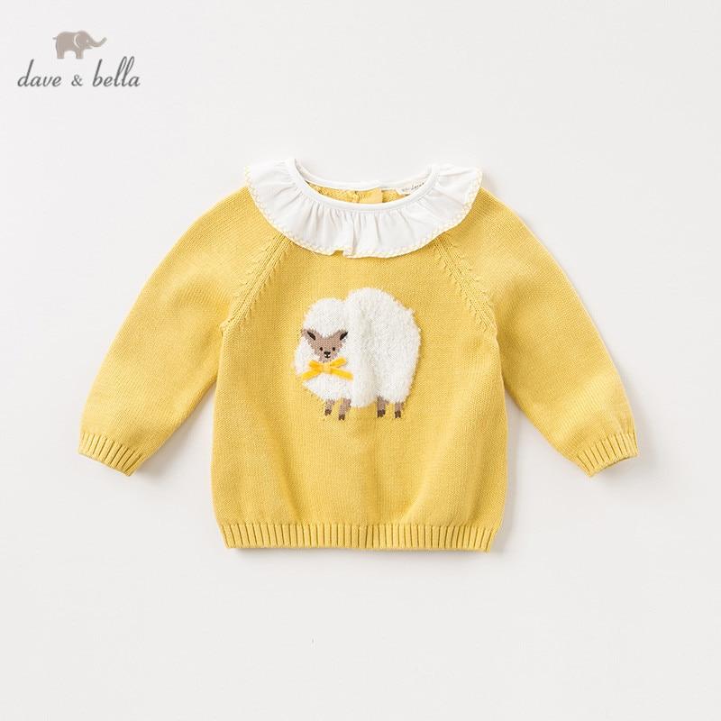 DBM11692, милый осенний вязаный свитер для маленьких девочек с героями мультфильмов, детский Модный пуловер, бутиковые топы для малышей|Свитера| | АлиЭкспресс