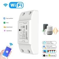 Module de commutateur declairage intelligent WiFi  minuterie de disjoncteur universelle  Smart Life APP  telecommande sans fil avec Alexa Google Home  10A 220V