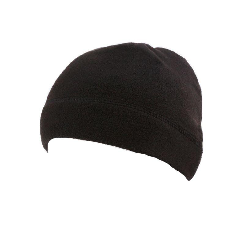 Hombre invierno cálido al aire libre lana de imitación redondo melón sombrero Camo camuflaje Color sólido a prueba de viento militar táctico Beanie cráneo Cap
